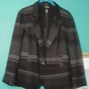 Black w/grey stripes Jacket